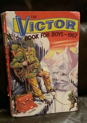 The Victor Book for Boys 1967 Vintage Annual Unclipped Hardback