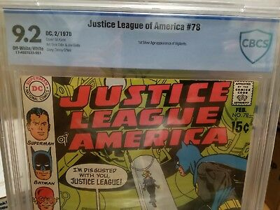 Justice League of America # 78 NM- 9.2 💎 CBCS 1st Silver Age Vigilante Key