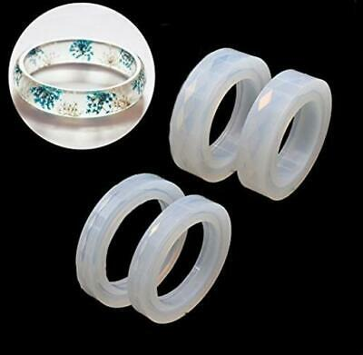 Jetloter 4PCS Silicone Mould Mold Round for Resin Curve Bangle Bracelet...
