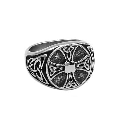 Ring For Men Viking Stainless Steel Celtic Knot Gothic Punk Rock Biker Jewelry