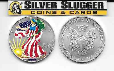 (1) 2000 Colorized  American Silver Eagle 1 oz