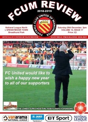 FC United of Manchester v Spennymoor Town 2018/19 National North Programme