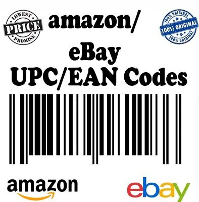 500 Unit  UPC EAN Codes Certified Numbers Barcodes For Amazon