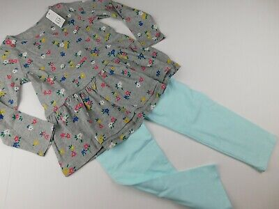 NWT Gap Baby Toddler Girl's 2Pc Outfit LS Floral Tunic/Crop Leggings 3 Yrs 5 Yrs