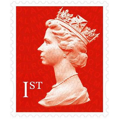 100 x 1st Class Royal Mail Stamps, Easy Peel and Stick , self-Adhesive NEW