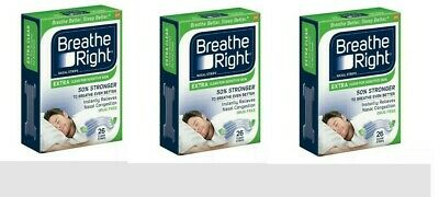 Breathe Right Strips - SET of (4) 26 ct Extra Clear Sensitive Skin 104 ct Total