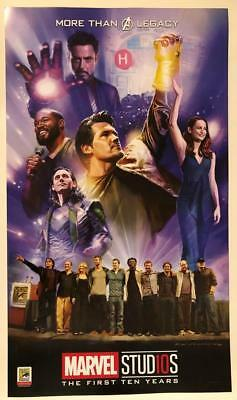 Sdcc 2018 Marvel Studios First 10 Years Poster Hall H Avengers Endgame Captain