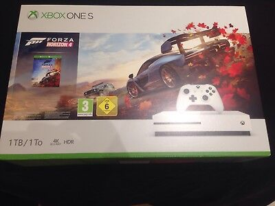 XBOX ONE  S 1TB Console  + Forza Horizon 4 Game for Xbox One. New & Sealed