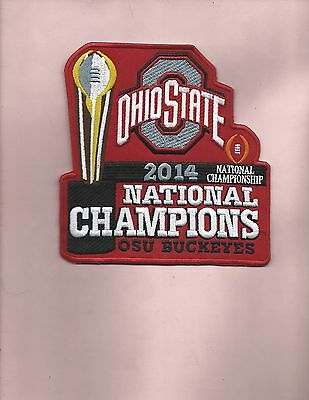 New 5 3/4 X 6 Inch Ohio State 2014 Natinal Championship Iron On Patch Free Ship