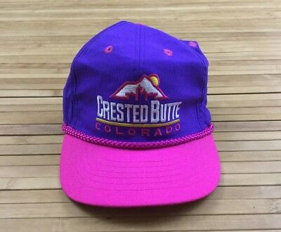 87c96364b56 VINTAGE CRESTED BUTTE Colorado Strapback Hat Cap Ski Trail -  20.00 ...