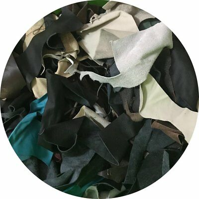 Mixed Leather Remnants for Jewellery Making. - 100 gms - FREE SHIPPING