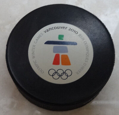 2010 Vancouver Olympic Official Game Puck