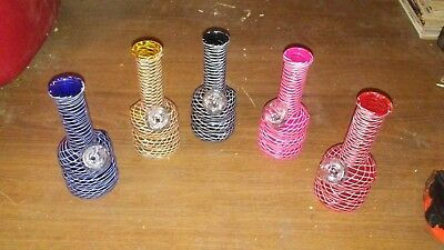Hookah Water Pipe Glass Bong 6 inch  Assorted colors Smoking Pipe w/ Carb Hole