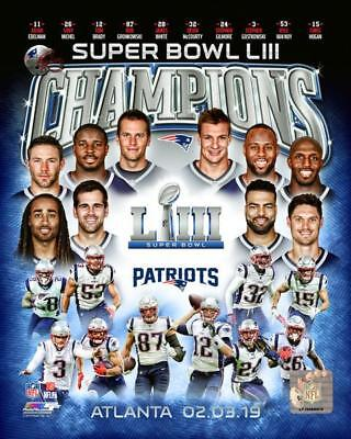 New England Patriots Super Bowl 53 Champion 8x10 Photo Team picture poster 2019