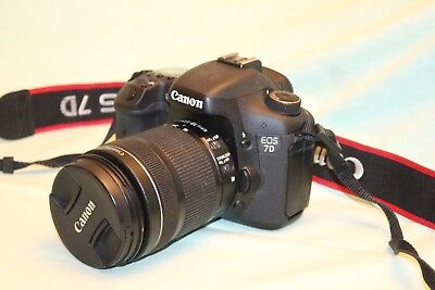 Canon EOS 7D 18.0MP Digital SLR Camera and 18-135mm STM lens low shutter count