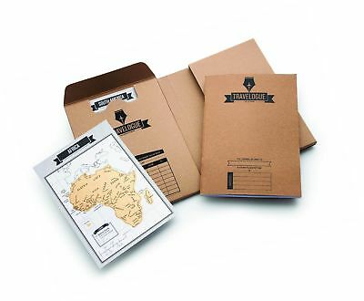 Original Travel Journal – Scratch Off World Map Diary – Beautiful Travel Déco...