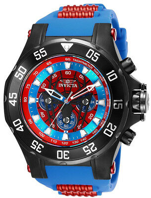 Invicta 25689 Marvel Blue and Red Dial Blue Silicone Strap Chrono Men's Watch