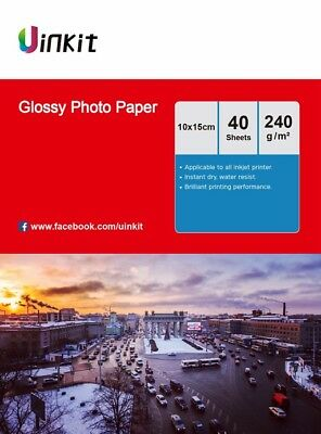 4x6 Glossy Inkjet Photo Paper A6 102x152mm 4x6 230 240Gsm - 160 Sheets Uinkit