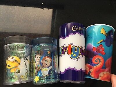 Toddler kids bundle cups Finding Nemo/Dory,Toy Story, Minions & Curly Wurly