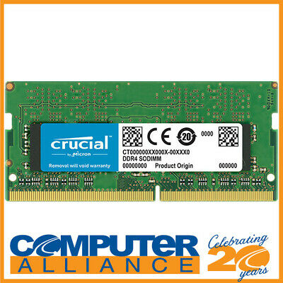 SODIMM DDR4 8GB 2666MHz Crucial RAM for Notebooks PN CT8G4SFS8266