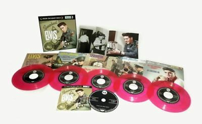 ELVIS - FROM THE ARMY REELS - 5 PINK VINYL BOXSET 1 CD - New & Sealed