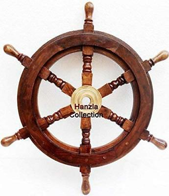 Collectible Wooden Ship Wheel Pirate Captain Boat Steering Nautical Maritime18