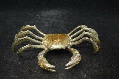 Rare Fine Old Chinese Bronze Casting Crab Statue Sculpture Top Quality!