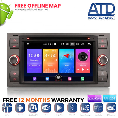 """7"""" Direct Fit Head Unit GPS Radio SatNav DVD Stereo For Ford 6000 CD Replacement"""