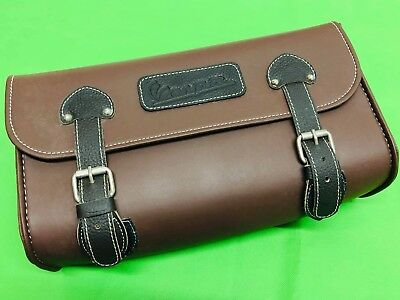 Vespa Brown Case Roll Bag For Luggage Carriers And Luggage Racks Vespa Logo