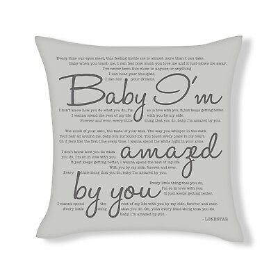 Perfect Song Lyrics Cushion Cover Gift UFCU017