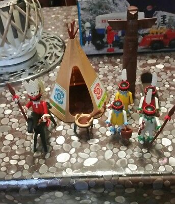 PLAYMOBIL WESTERN lotto personaggi + accessori anni 70 80