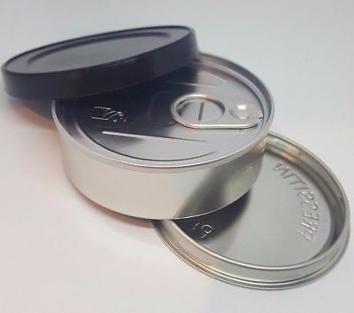 SMALL PRESSITIN TIN  body and end 3 5g tuna tin  Style pull lids box