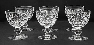 Set of 6 Waterford Crystal MAUREEN Liquor Cocktail Crystal Stemware Glasses