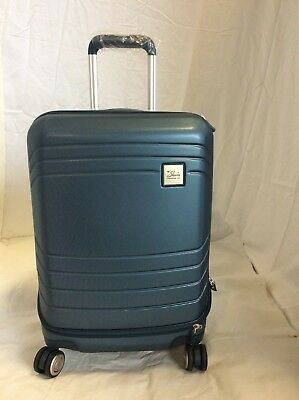 Skyway Luggage Cascadia Carry-On Blue Expandable Spinner Dual Wheel System