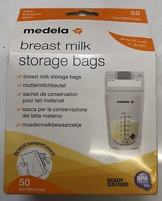 NEW Medela Breast Milk Storage Bags, 50 bags