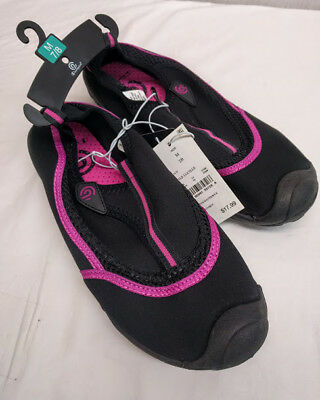 cdf37d5f8 WOMEN S CHAMPION LUCILLE Water Shoes Sz XL 11 12 Black Pink C9 Pool ...