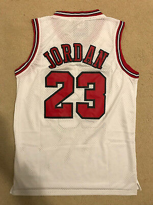Michael Jordan #23 Throwback Chicago Bulls White Mens Jersey