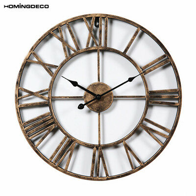 Homingdeco Fashion Creative Wall Clock Iron Hollowed-Out Vintage