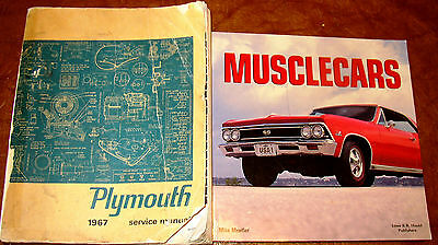 1967 Plymouth Service Manual GTX Satellite 426 Belvedere Fury VIP Valiant Signet