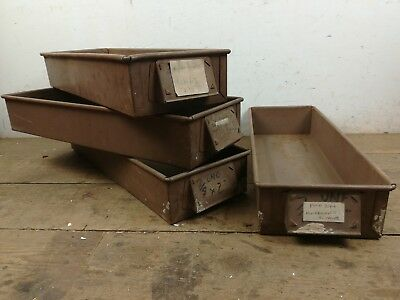 4 old industrial steel drawers bank of draws restoration