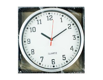 Round Wall Clock Indoor / Conservatory / Office / Home 26cm Diameter Face