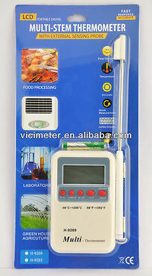 USA Seller Digital Multi-stem thermometer for Grill/BBQ kitchen cooking probe