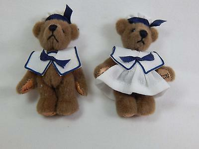 """Xmas Collectible World of  Miniature Bear 2.75/"""" Mohair Daren #5040 Hand Stitched"""