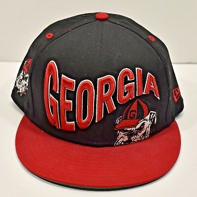 New Era 9Fifty Georgia Bulldogs Snapback Hat Cap Licensed OSFM Black Red a1950d752437