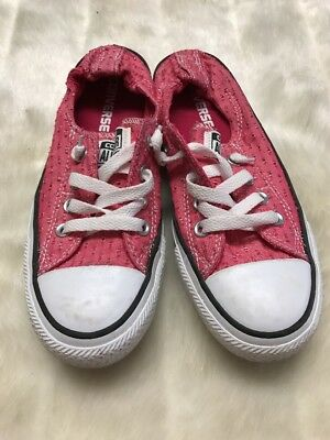 Converse Chuck Taylor All Star Shoreline Womens Slip-On Shoes Pink Size 4 07141b525