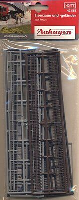 AUHAGEN HO scale ~ 3 FENCING TYPES ~ 2.4 METRES TOTAL #42558