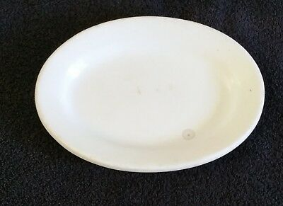 """Antique White China Ironstone Oval Platter J & G Meakin 7 5/8"""" x 5 1/2"""" England"""