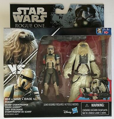 """Star Wars Rogue One Scarif Stormtrooper & Moroff - 3.75"""" Action Figures"""