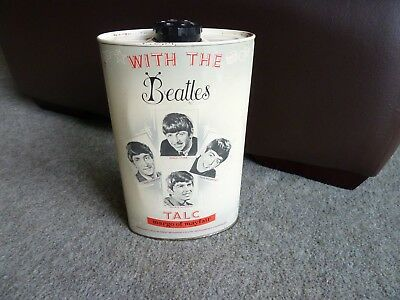 The Beatles 1963 Margo Of Mayfair Tin Talc Inside - Vintage Collectible