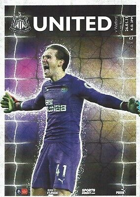 Newcastle v Watford FA Cup 26th January 2019 Match Programme 2018/2019